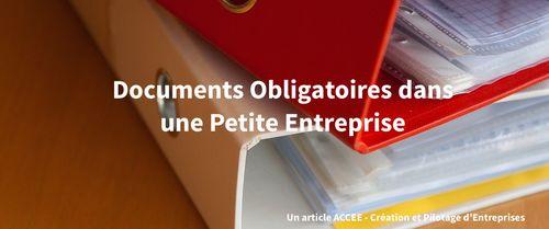 Documents Obligatoires dans une Petite Entreprise