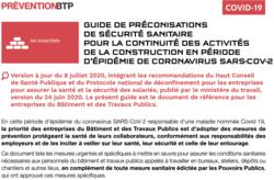 Recommandations sanitaires de la construction et du BTP : Version 4
