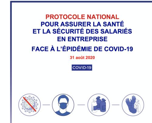 Protocole national pour assurer la santé et la sécurité des employés