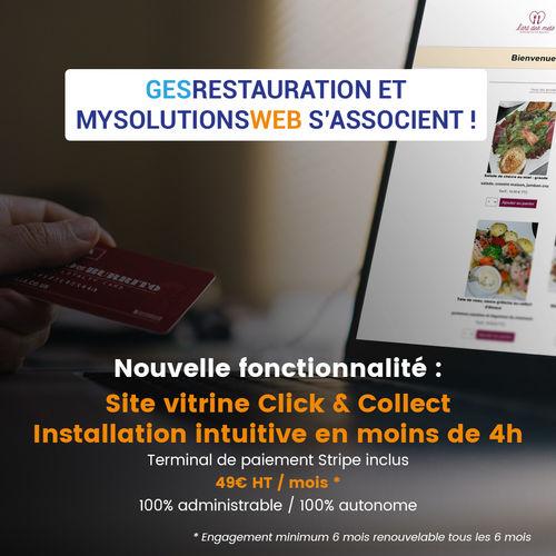 Découvrir les site C&C MysolutionsWEB 100% administré GesRestauration